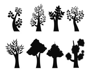 Black Tree Icons