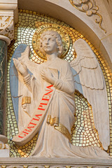 Vienna - Modern statue of angel from altar in Carmelites church