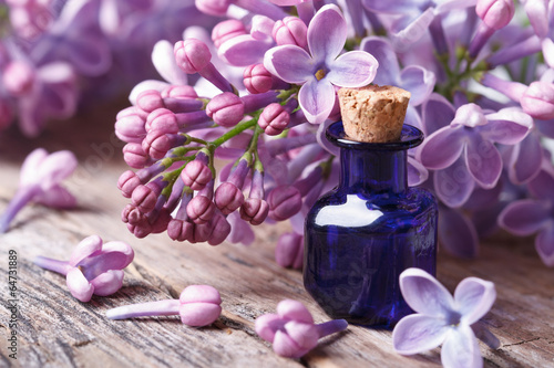 Tuinposter Lilac Tincture of aromatic lilac flowers close-up