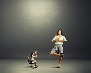 angry woman and calm woman