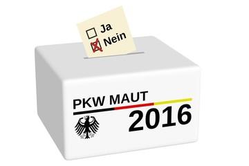 PKW Maut 2016 Abstimmung