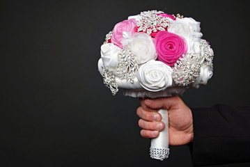 Wedding bouquet for bride, left you can write some text