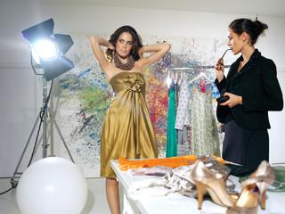 woman in fashion atelier