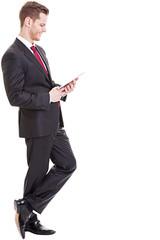 Geschäftsmann benutzt Tablet-PC