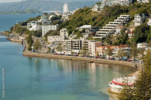 Fotobehang Nieuw Zeeland Wellington's Oriental Bay