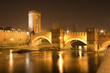 Verona - Scaligero bridge at night - Ponte Scaligero