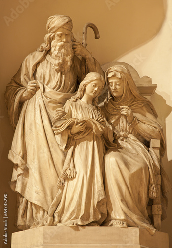 Verona - Holy Family sculpture in st. Thomas church