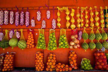 Fresh Fruit at Colorful Fruit Stand