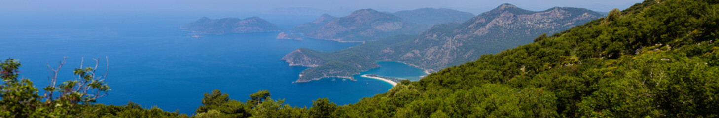 Panoramic View of Oludeniz and the Blue Lagoon
