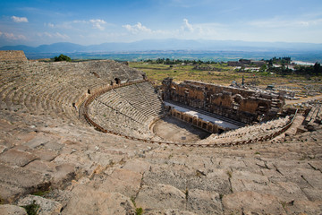 Ruined Amphitheater - Pamukkale, Hierapolis, Turkey