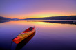 Kayak on Lake at Sunrise - 64736068