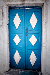 Weathered Wooden Door in Greece
