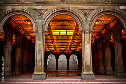 Spoed canvasdoek 2cm dik Tunnel Central Park Archway