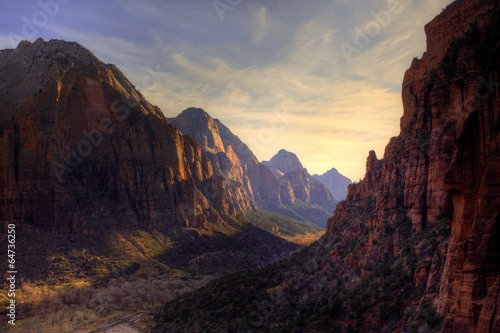 View of Zion Canyon National Park from Angel's Landing Trail