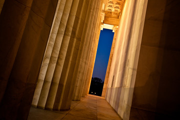 Lincoln Memorial Columns - Washington DC, USA