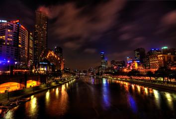 Melbourne City Lights over Yarra River