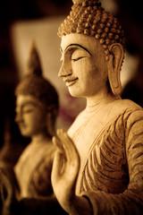 Wood Carved Buddha