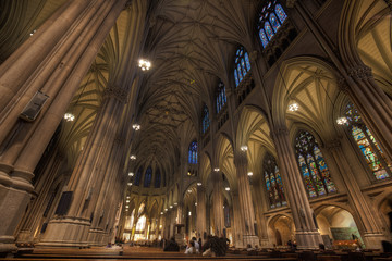 Interior of St Patrick's Cathedral, Manhattan