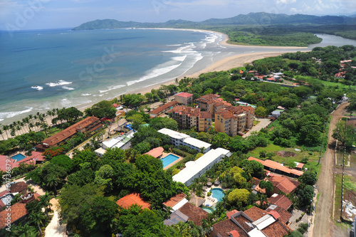 Plexiglas Luchtfoto Aerial view of western Costa Rica resorts