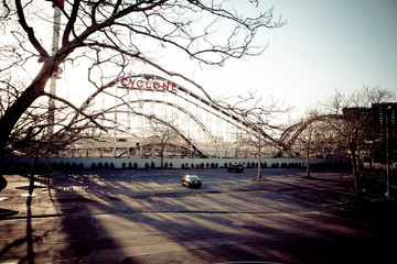The Cyclone - Coney Island Roller Coaster Parking Lot