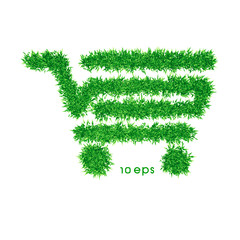 vector - organic shopping cart