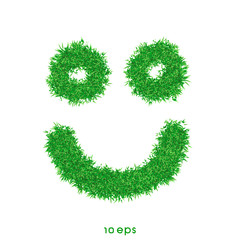 vector - Grass smiling