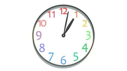 9時から17時までの時計の動き
