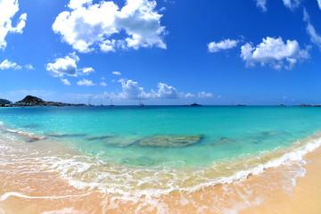 Tropical Caribbean Beach Fisheye