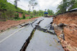 broken road by an earthquake in Chiang Rai, thailand - 64739824