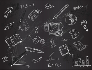 Education doodle pack vector