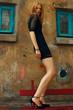 Little black dress and high heels concept