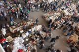 Top view of Encants Vells flea market