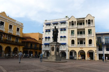 Monument to the founder of Cartagena  Don Pedro de Heredia