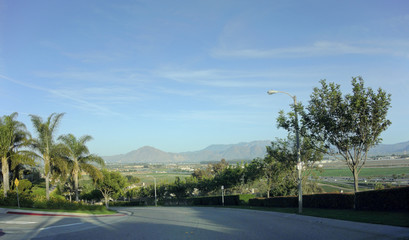 City of Camarillo Streets and Mountains, CA