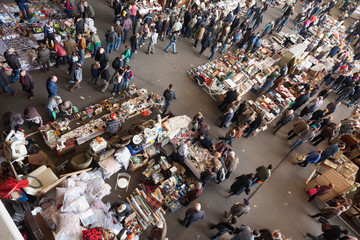 Top view of Encants Vells flea market