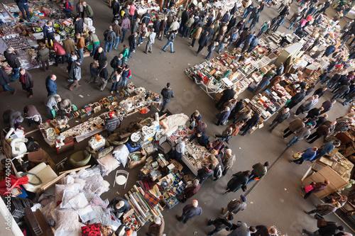 Top view of Encants Vells flea market - 64740450