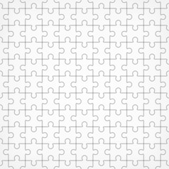 Jigsaw seamless puzzle blank template.