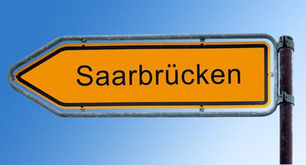 Strassenschild 7 - Saarbrücken
