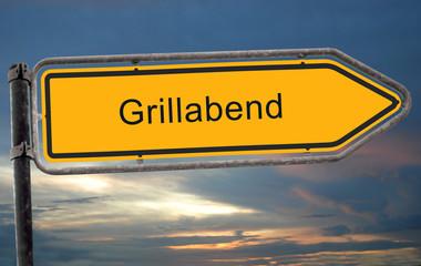 Strassenschild 19 - Grillabend