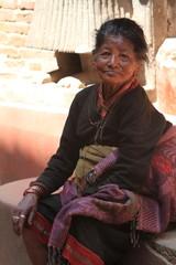Frau aus Nepal