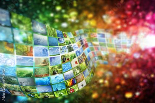 Zdjęcia na płótnie, fototapety, obrazy : Collage of images background