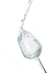 Water splashing in a glass