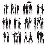 Vector of  Business People in Different Actions