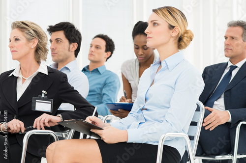 Businesspeople In Seminar