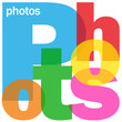 """PHOTOS"" Letter Collage (pictures share social media portfolio)"