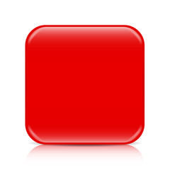Red blank icon template with copy space