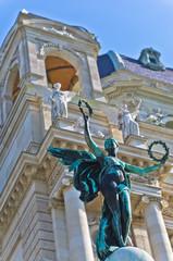 Statue of an angel with laurel wreath, Art museum, Vienna