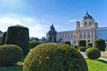 Maria Theresa statue in front of Natural History museum, Vienna
