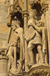 King and knight, detail on saint Stephen cathedral at Vienna