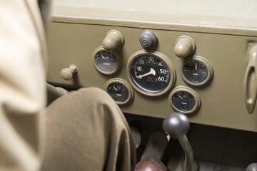 dashboard of a military vehicle